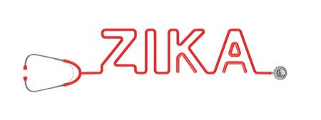 tubing: Stethoscope ZIKA type  3D illustration of stethoscope tubing forming ZIKA text