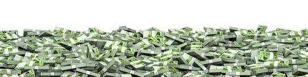 thousand: Panorama stacks South Korean won  3D illustration of panoramic stacks of South Korean ten thousand won notes