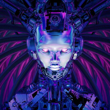 Science fiction female alien android artificial intelligence