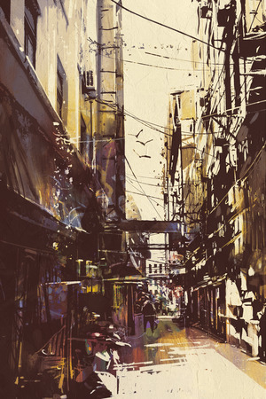 Malowanie wąskich uliczek na Starym Mieście