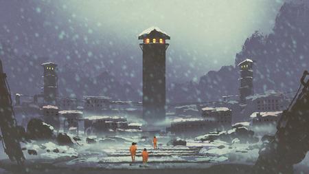 겨울에 버려진 감옥