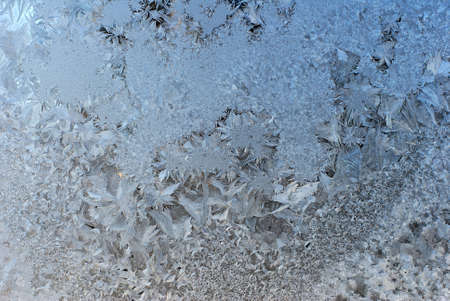Frost Covered Window Horizontal