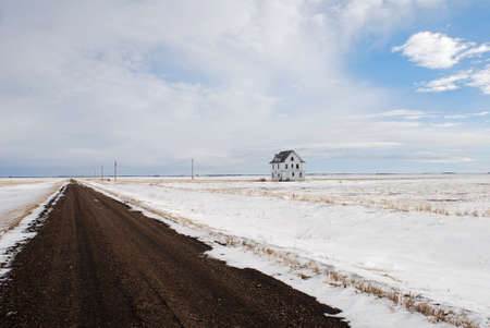 Isolated House on the Frozen Tundra photo