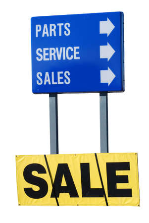 extracted: Sales, parts, service sign extracted.