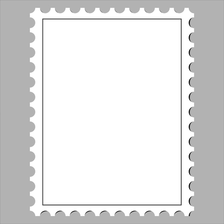 Clean Postage Stamp, Template, Icon On White Background Vector Illustration  Vector
