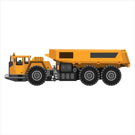 dumping: Powerful articulated dump truck
