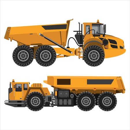 powerful articulated dump truck Illustration