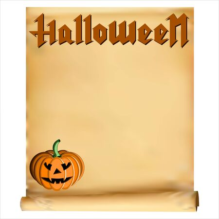 autumn background: greeting card for Halloween Illustration