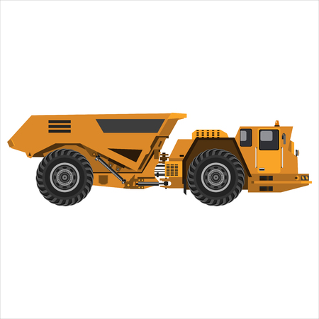 Powerful articulated dump truck.
