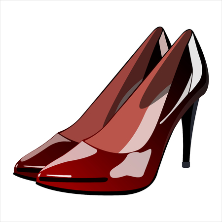women s shoes with heels Illustration
