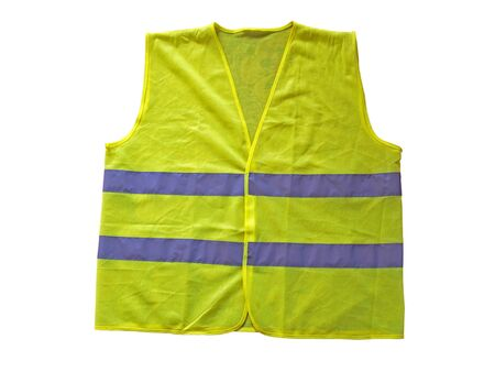 safety vest: Fluorescent vest or waistcoat, isolated on white