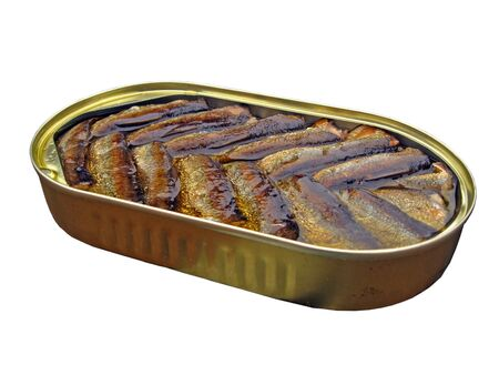 tinned: Tinned sprats smoked and boiled in oil