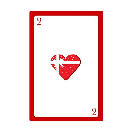 two heart card for valentines vector illustration