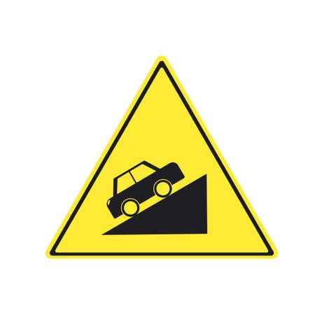 Road sign - beware steep road uphill