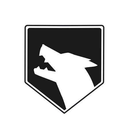 White wolf vector logo illustration