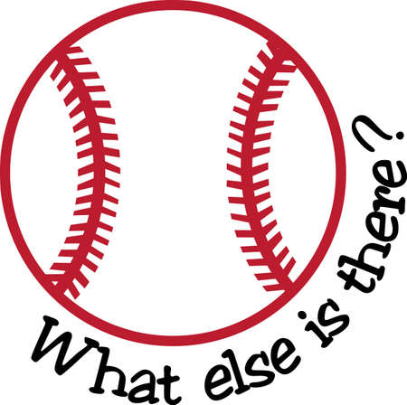 Time to play ball and create something memorable for the team  Great for baseball bags or sport saks. Stock fotó - 51203751