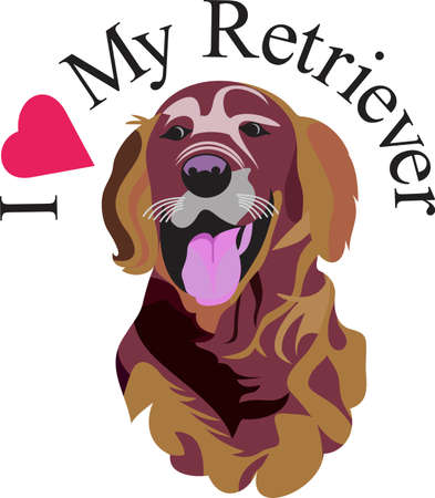 n artistic take on a favorite breed, the Labrador retriever.  We love dogs on anything from bags to apparel to dcor!  Always perfect. Illustration