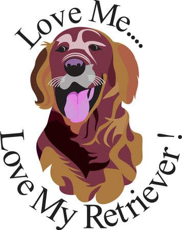 좋아하는 품종의 예술가 인 래브라도 리트리버. 우리는 가방에서부터 의류에 이르기까지 개를 사랑합니다! 항상 완벽 해. 일러스트