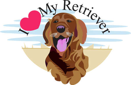anything: n artistic take on a favorite breed, the Labrador retriever.  We love dogs on anything from bags to apparel to dcor!  Always perfect. Illustration