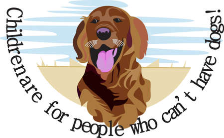 dcor: n artistic take on a favorite breed, the Labrador retriever.  We love dogs on anything from bags to apparel to dcor!  Always perfect. Illustration