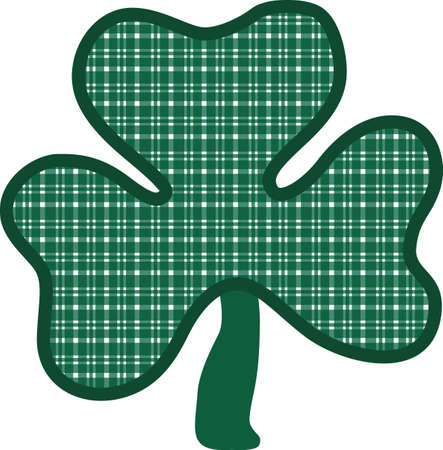 Create something special for St. Patrick's Day with this lucky clover.  Since it is an applique, the fabric chosen makes the design perfectly unique.