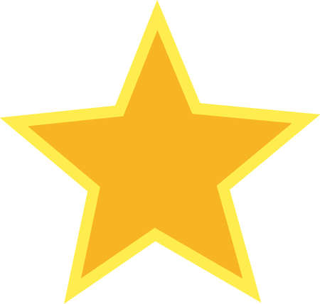 This perfectly shaped star is the perfect accent for sports gear and apparel.  Change the applique fabric to create the perfect look.