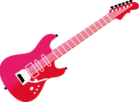 Make some music with this electric guitar.  Perfect for decorating for your favorite musician or creating musical themed tees! Imagens - 51203859