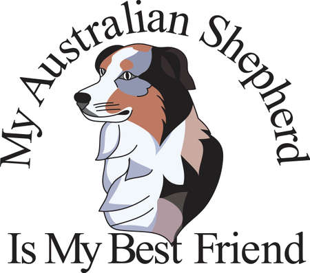 aussie: An artistic take on a favorite breed, the Australian shepard.  We love dogs on anything from bags to apparel to dcor!  Always perfect.