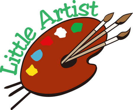 palate: Create with color.  This artist palate has all the colors to create a most perfect creation.  Why not create an artist cape like no other!
