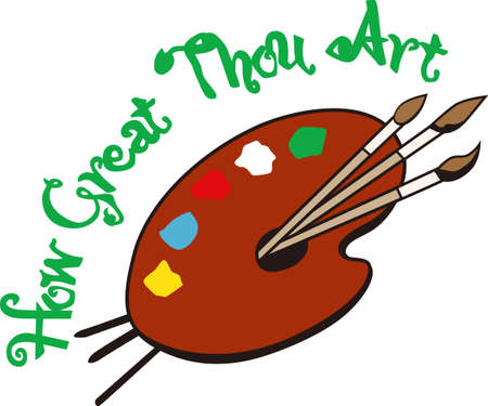Maak met kleur. Deze artiest gehemelte heeft alle kleuren van een meest perfecte creatie te maken. Waarom niet een kunstenaar kaap als geen ander te maken! Stock Illustratie