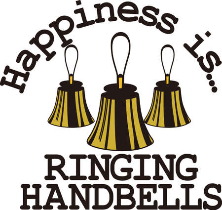 for example: Handbells are example of everyone working together to create something amazing.  Create a special shirt for your director or handbell team members.  Add your group name for a personal touch. Illustration