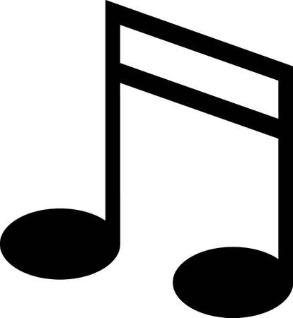 One note is sometimes all it takes to be heard and understood.  This simple note is a simple but perfect for apparel, vinyl cuts or print.