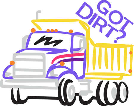 Big dump trucks are a favorite for little boys gear.  Bright colorful outlines make this truck a sure favorite.