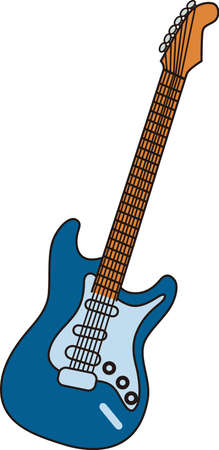 Make some music with this electric guitar.  Perfect for decorating for your favorite musician or creating musical themed tees! Фото со стока - 51204172