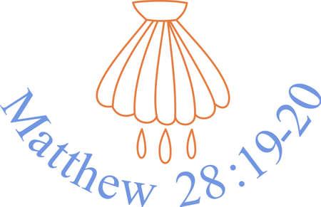 Le baptême est l'un des plus sacrés des sacrements. Ce symbole exprime le sens profond derrière le rituel. Beau pour décor de l'église. Banque d'images - 51205523