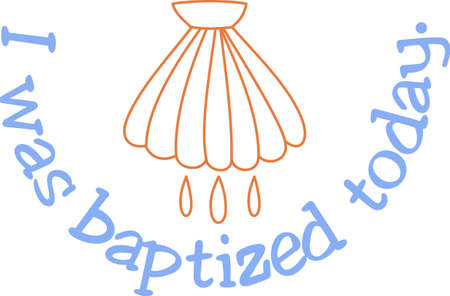 conveys: Baptism is one of the most sacred of sacraments.  This symbol conveys the deep meaning behind the ritual.  Lovely for church dcor.