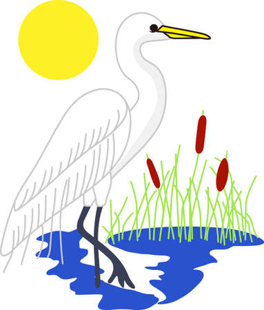 water bird: Lovely water birds add natures beauty to your special projects.  Love this pretty bird on boat gear.