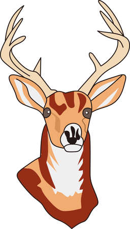 buck: A splendid wildlife trophy buck is what every hunter seeks.  If you cant hunt one, why not decorate apparel with this perfect buck!