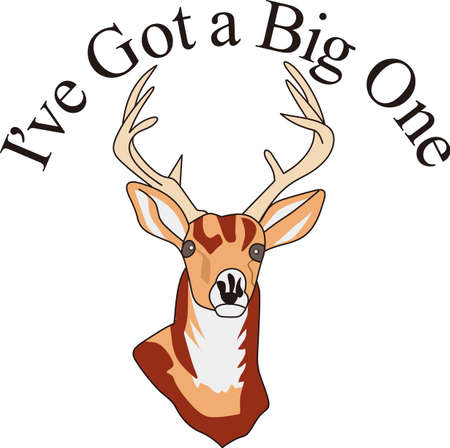A splendid wildlife trophy buck is what every hunter seeks.  If you cant hunt one, why not decorate apparel with this perfect buck!