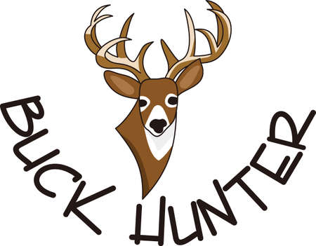 hart: A splendid wildlife trophy buck is what every hunter seeks.  If you cant hunt one, why not decorate apparel with this perfect buck!