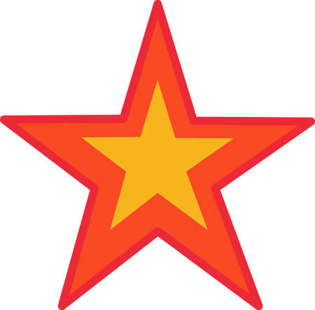 star mascot: This bright star is just perfect for the aspiring rock star. Love it on backpacks or lunch kits!