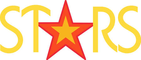 aspiring: This bright star is just perfect for the aspiring rock star. Love it on backpacks or lunch kits!