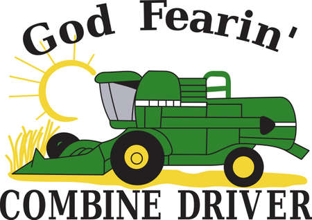 Farm livin the life for you  Then this is the design for you.  Proudly decorate bags, shirts, and even home dcor with our classic green combine.