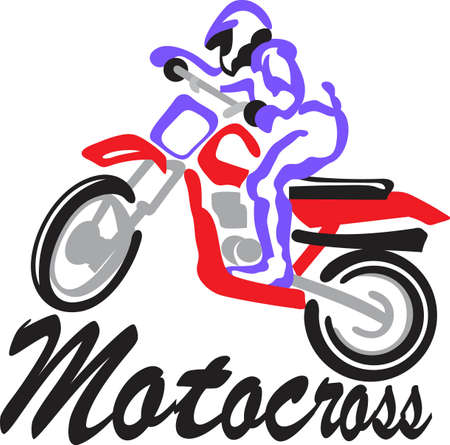 Motocross riders are a special breed and deserve a special design all their own.  This artistic take on the sport adds a special flair to riding jackets or shirts.