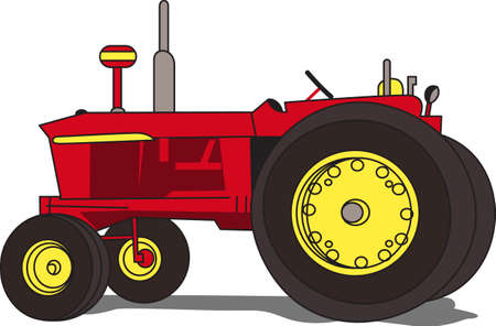 A classic, restored tractor is a treasure.  It offers a lovely way to decorate apparel and even home dcor items for a tractor collector. Ilustração