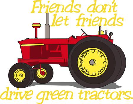 restored: A classic, restored tractor is a treasure.  It offers a lovely way to decorate apparel and even home dcor items for a tractor collector. Illustration