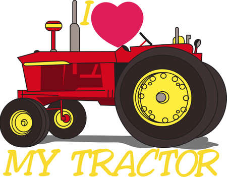 john: A classic, restored tractor is a treasure.  It offers a lovely way to decorate apparel and even home dcor items for a tractor collector. Illustration