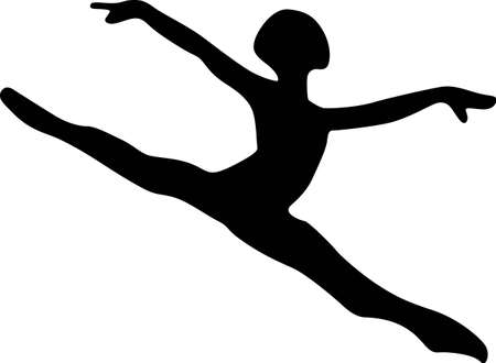 grace: This dancer is purely grace in motion.  Lovely on dance bags or room decoration for the little dancer. Illustration