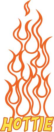 snap: Add some flaming heat to your project with this simple flame outline.  Its a snap to stitch and adds an immediate flair.  Try metallic thread for that extra pop.