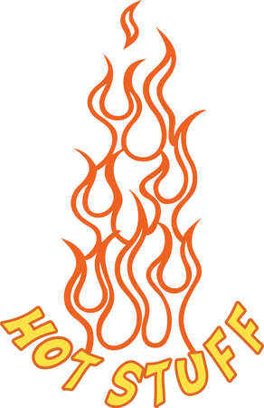 Add some flaming heat to your project with this simple flame outline.  Its a snap to stitch and adds an immediate flair.  Try metallic thread for that extra pop.